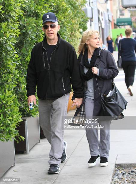 Actor JK Simmons and his wife Michelle Schumacher are seen on March 21 2017 in Los Angeles California