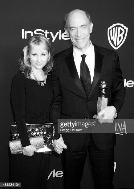 Actor JK Simmons and Michelle Schumacher arrive at the 16th Annual Warner Bros And InStyle PostGolden Globe Party at The Beverly Hilton Hotel on...