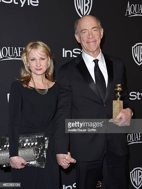 Actor JK Simmons and Michelle Schumacher arrive at the 16th Annual InStyle and Warner Bros Golden Globe AfterParty at The Beverly Hilton Hotel on...