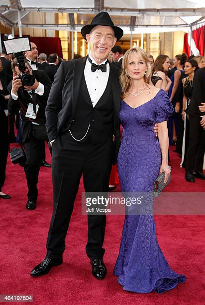 Actor JK Simmons and Michelle Schumacher arrive at the 87th Annual Academy Awards at Hollywood Highland Center on February 22 2015 in Los Angeles...