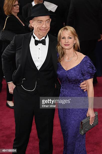 Actor JK Simmons and Michelle Schumacher attend the 87th Annual Academy Awards at Hollywood Highland Center on February 22 2015 in Hollywood...