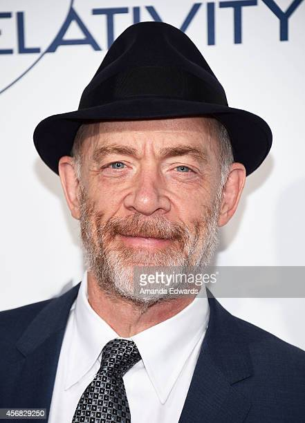 Actor JK Simmons arrives at the Los Angeles premiere of 'The Best Of Me' at the Regal Cinemas LA Live on October 7 2014 in Los Angeles California