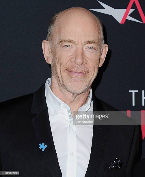Actor JK Simmons arrives at the Los Angeles Premiere 'The Accountant' at TCL Chinese Theatre on October 10 2016 in Hollywood California