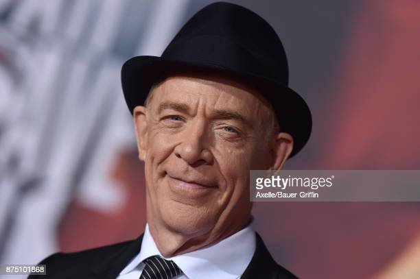Actor JK Simmons arrives at the premiere of Warner Bros Pictures' 'Justice League' at Dolby Theatre on November 13 2017 in Hollywood California
