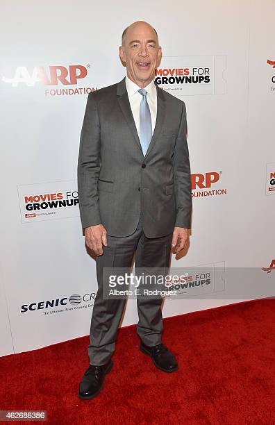 Actor J.K. Simmons arrives to AARP The Magazine's 14th Annual Movies For Grownups Awards Gala at the Beverly Wilshire Four Seasons Hotel on February...