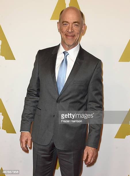 Actor JK Simmons attends the 87th Annual Academy Awards Nominee Luncheon at The Beverly Hilton Hotel on February 2 2015 in Beverly Hills California