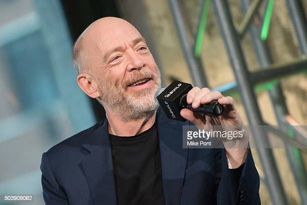 Actor JK Simmons attends the AOL BUILD Series to discuss his new film 'Kung Fu Panda 3' at AOL Studios In New York on January 7 2016 in New York City