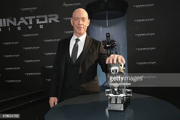 Actor JK Simmons attends the European Premiere of 'Terminator Genisys' at the CineStar Sony Center on June 21 2015 in Berlin Germany