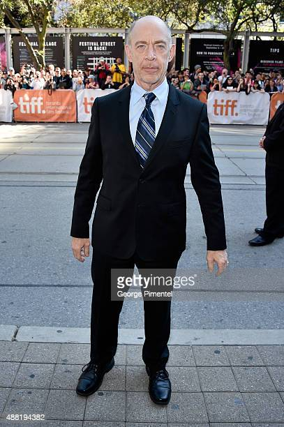 """Actor J.K. Simmons attends """"The Meddler"""" premiere during the 2015 Toronto International Film Festival at the Princess of Wales Theatre on September..."""