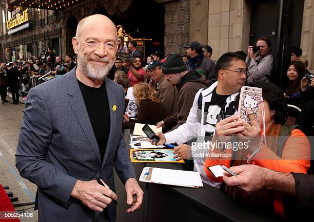 Actor JK Simmons attends the premiere of DreamWorks Animation and Twentieth Century Fox's 'Kung Fu Panda 3' at the TCL Chinese Theatre on January 16...
