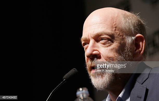 Actor JK Simmons attends the press conference for Whiplash during the 58th BFI London Film Festival at The Mayfair Hotel on October 15 2014 in London...