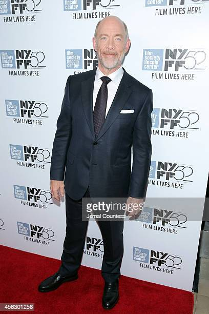 Actor JK Simmons attends the Whiplash premiere during the 52nd New York Film Festival at Alice Tully Hall on September 28 2014 in New York City