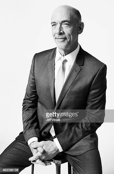 Actor JK Simmons poses for a portraits at the 87th Academy Awards Nominee Luncheon at the Beverly Hilton Hotel on February 2 2015 in Beverly Hills...