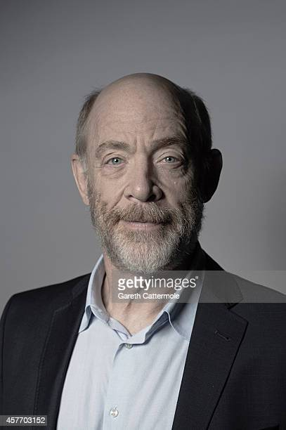 Actor JK Simmons poses in the portrait studio at the BFI London Film Festival 2014 on October 15 2014 in London England
