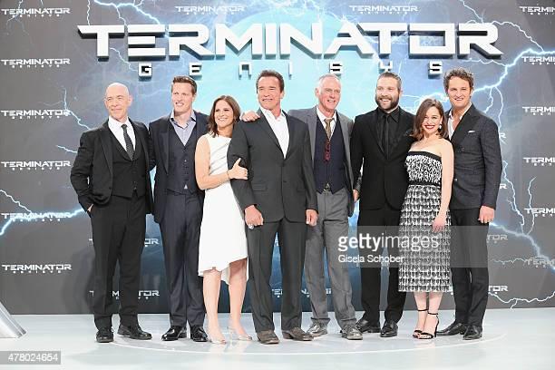 Actor JK Simmons producer Dana Goldberg producer David Ellison actor Arnold Schwarzenegger director Alan Taylor actors Jai Courtney Emilia Clarke and...