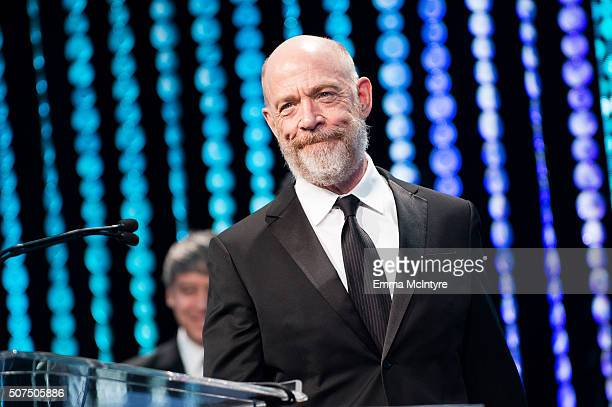 Actor JK Simmons speaks onstage at the 66th Annual ACE Eddie Awards at The Beverly Hilton Hotel on January 29 2016 in Beverly Hills California