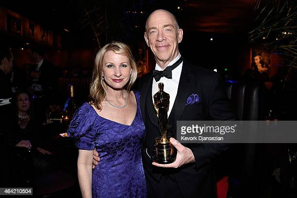 Actor JK Simmons winner of Best Actor in a Supporting Role for 'Whiplash' and Michelle Schumacher attend the 87th Annual Academy Awards Governors...