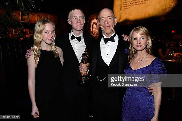 Actor J.K. Simmons, winner of Best Actor in a Supporting Role for 'Whiplash' and guests attend the 87th Annual Academy Awards Governors Ball at...