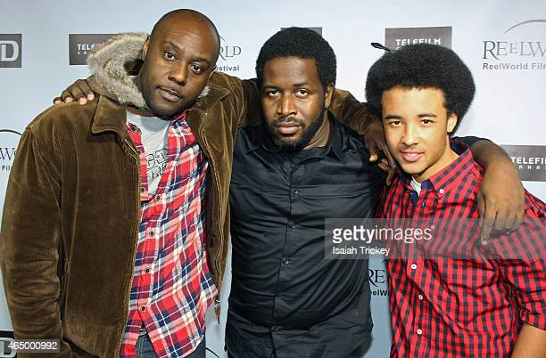 Actor Jo Jo Karume director Thyrone Tommy and actor Darius Fisher from the film 'Avalanche' attend the ReelWorld Film Festival 2015 Program Launch...