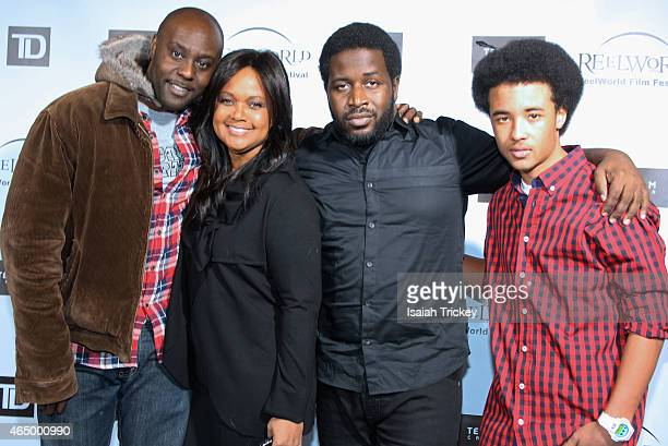Actor Jo Jo Karume ReelWorld founder Tonya Lee Williams director Thyrone Tommy and actor Darius Fisher from the film 'Avalanche' attend the ReelWorld...