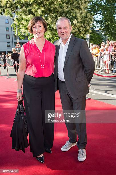 Actor Joachim Krol and his wife Heidrun Teusner Krol attend the opening night of the Nibelungen festival on July 31 2015 in Worms Germany