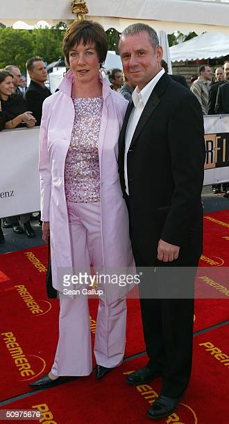 Actor Joachim Krol and his wife Heidrun TeusnerKrol arrive at the German Film Awards at the Tempodrom on June 18 2004 in Berlin Germany