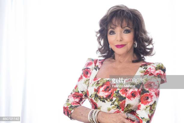 Actor Joan Collins is photographed for Hollywood Reporter magazine in Cannes France
