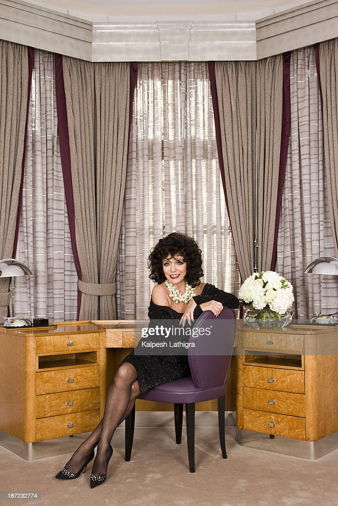 Actor Joan Collins is photographed for the Independent on October 22, 2013 in London, England.