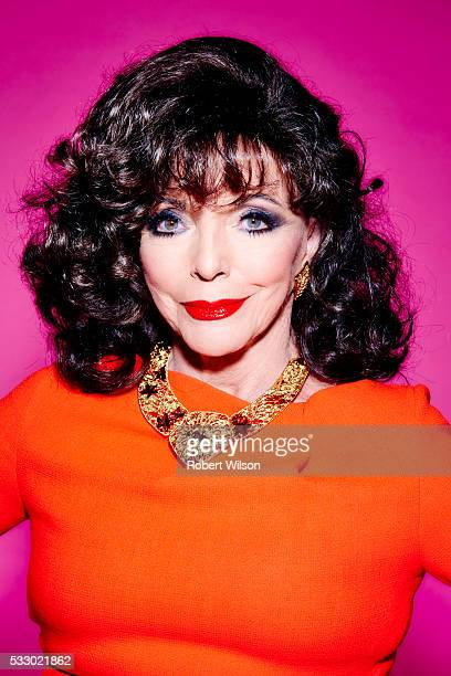 Actor Joan Collins is photographed for the Times on October 7 2015 in London England