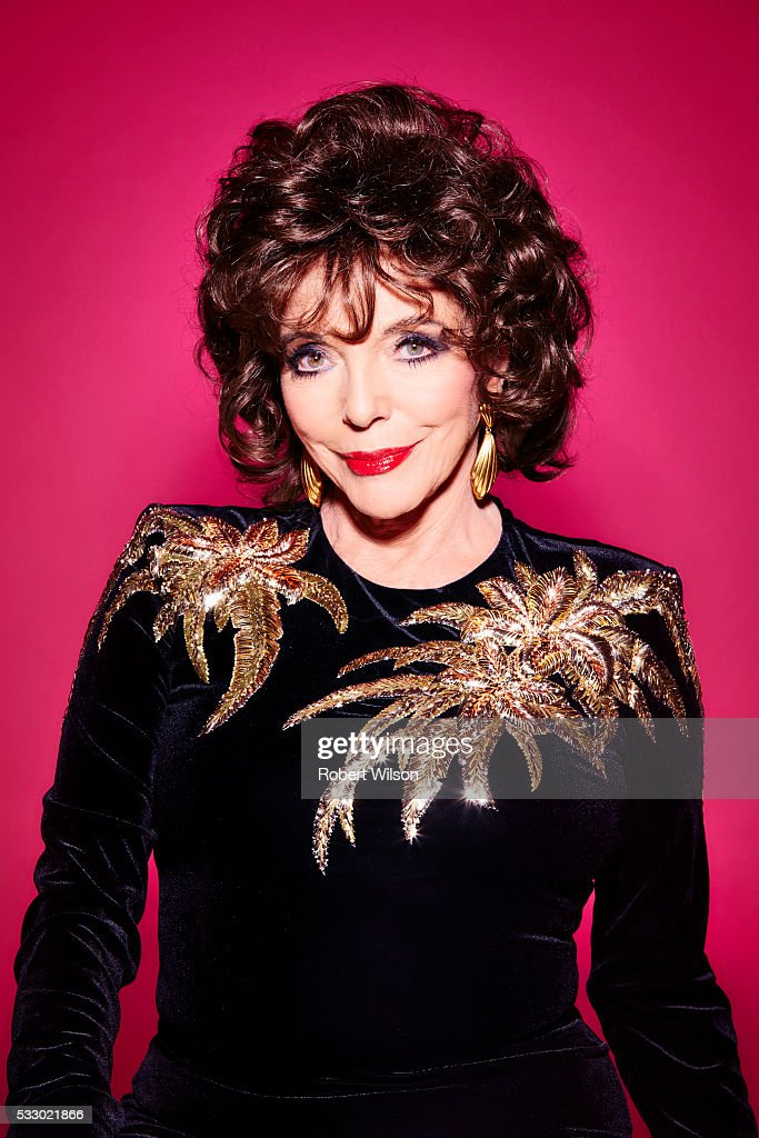 Actor Joan Collins is photographed for the Times on October 7, 2015 in London, England.