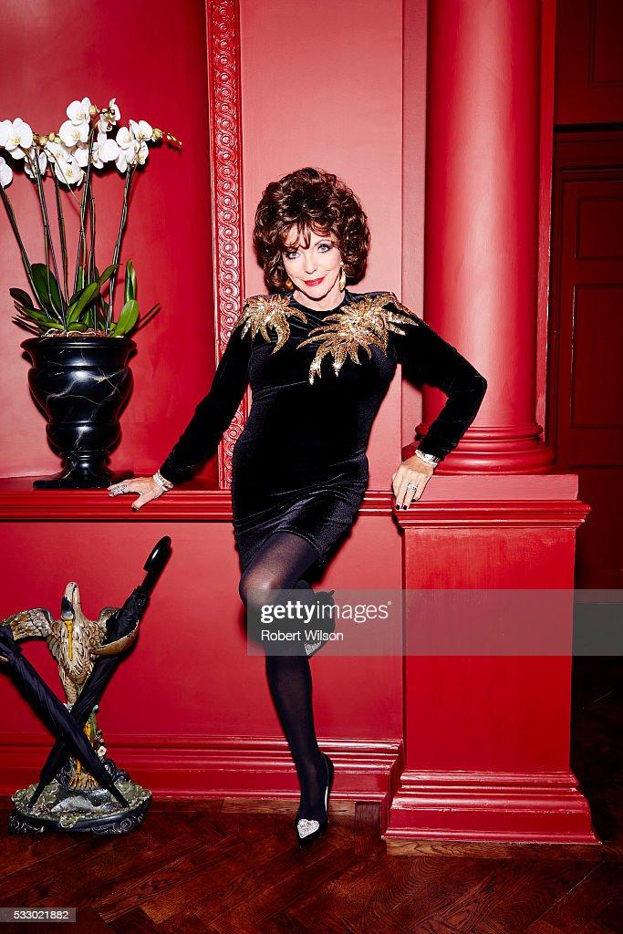 Joan Collins, Times UK, November 8, 2015 : News Photo