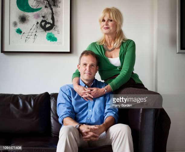 Actor Joanna Lumley and her son Jamie are photographed for the Sunday Times on August 24 2011 in London England