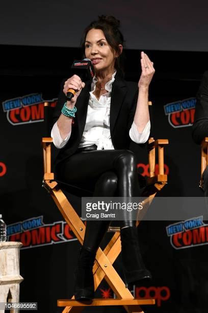 Actor Joanne Whalley speaks onstage at Marvel's DAREDEVIL panel during New York Comic Con at The Hulu Theater at Madison Square Garden on October 6,...