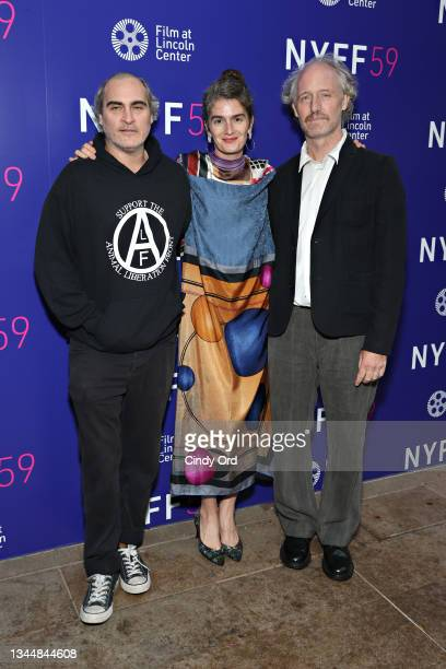 Actor Joaquin Phoenix, actor Gaby Hoffmann and writer/ director Mike Mills attend the photo call for 'C'mon C'mon' during the 59th New York Film...