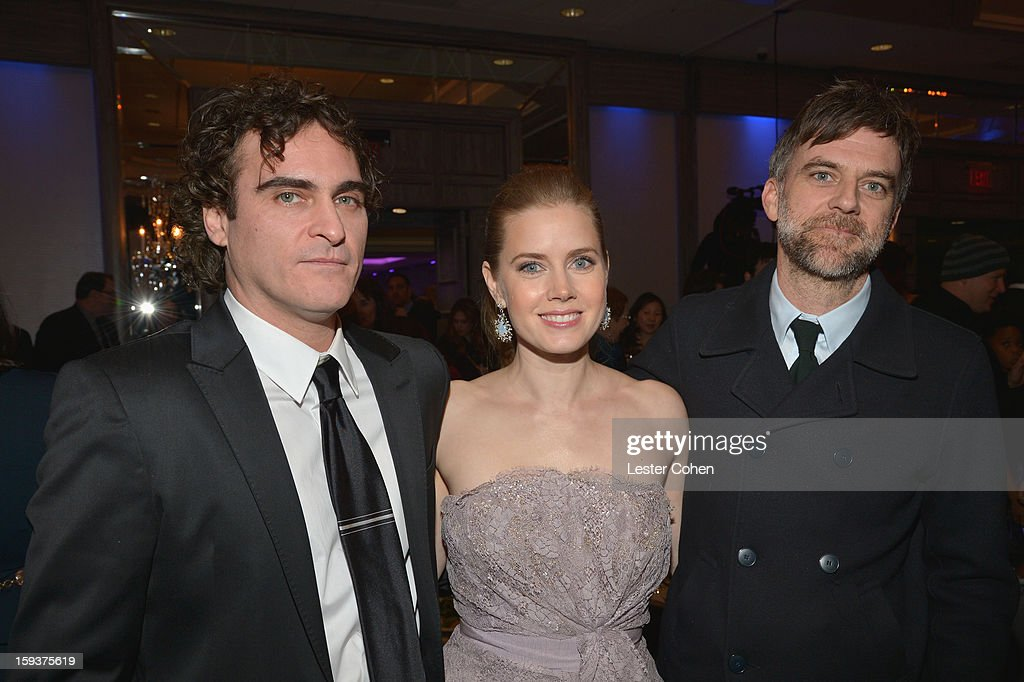Actor Joaquin Phoenix, actress Amy Adams and director Paul Thomas Anderson attend the 38th Annual Los Angeles Film Critics Association Awards at InterContinental Hotel on January 12, 2013 in Century City, California.