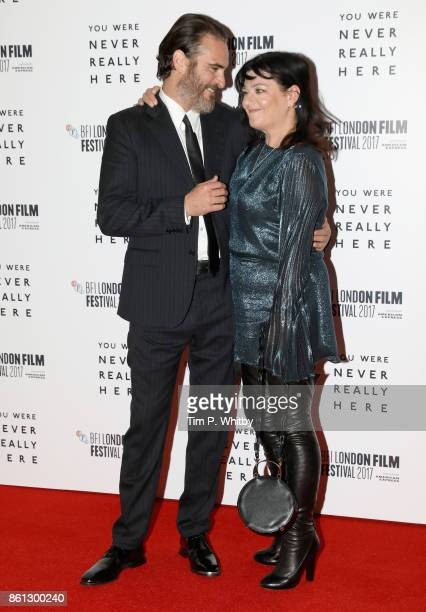 Actor Joaquin Phoenix and director Lynne Ramsay attend the Headline Gala Screening and UK Premiere of 'You Were Never Really Here' during the 61st...