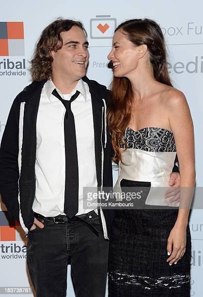 Actor Joaquin Phoenix and Founder and Executive Director of The Lunchbox Fund Topaz PageGreen attend The Lunchbox Fund Fall Fête at Buddakan New York...
