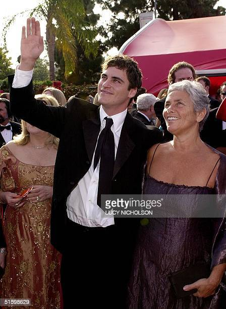 Actor Joaquin Phoenix and his mother Heart arrive for the 73rd Annual Academy Awards in Los Angeles 25 March 2001 Pheonix is nominated for Best...