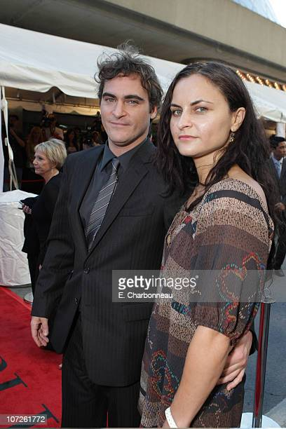 Actor Joaquin Phoenix and sister Rain Phoenix at Focus Features Gala Screening of Reservation Road during the 2007 Toronto International Film...
