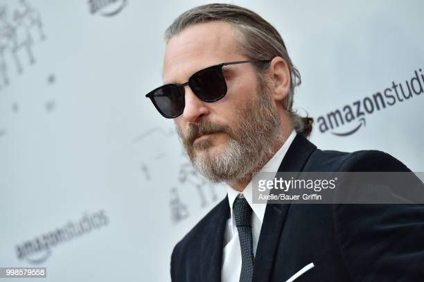 Actor Joaquin Phoenix arrives at Amazon Studios premiere of 'Don't Worry He Won't Get Far on Foot' at ArcLight Hollywood on July 11 2018 in Hollywood...