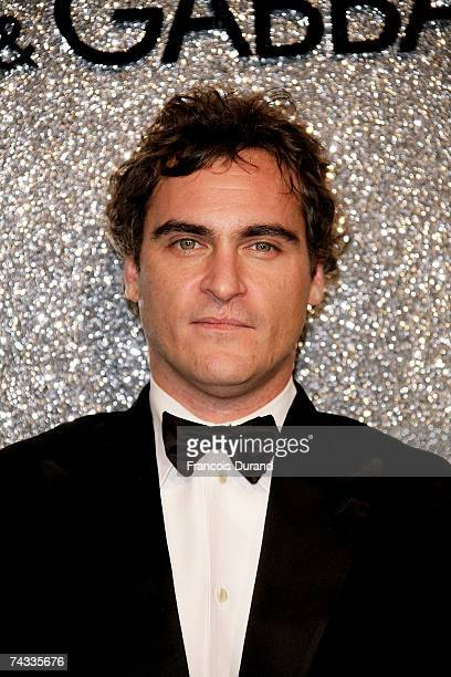 Actor Joaquin Phoenix arrives at the Dolce Gabbana Party held at the Baoli Restaurant during the 60th International Cannes Film Festival on May 25...