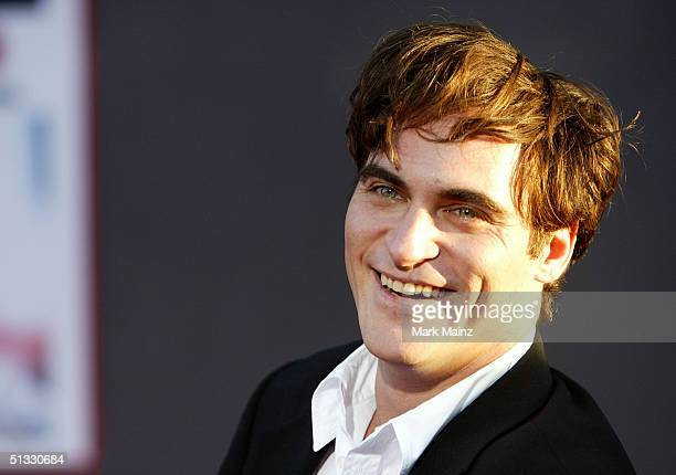 Actor Joaquin Phoenix arrives at the film premiere of Ladder 49 at El Capitan Theatre on September 20 2004 in Hollywood California