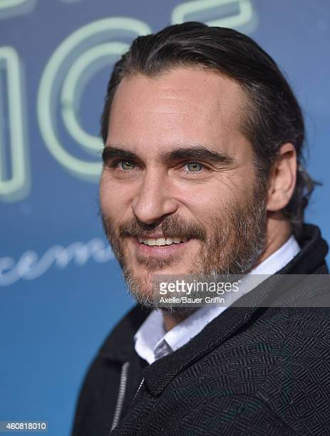 Actor Joaquin Phoenix arrives at the premiere of 'Inherent Vice' at TCL Chinese Theatre on December 10 2014 in Hollywood California