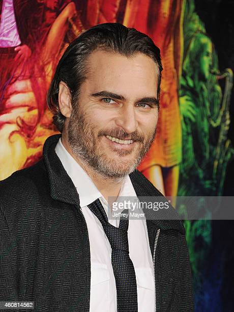Actor Joaquin Phoenix arrives at the Premiere of Warner Bros Pictures' 'Inherent Vice' at TCL Chinese Theatre on December 10 2014 in Hollywood...