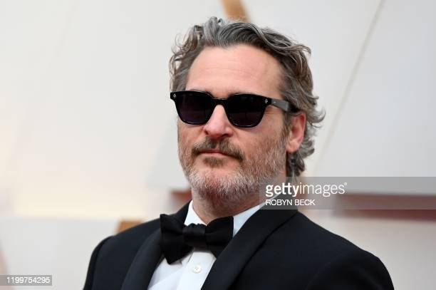 US actor Joaquin Phoenix arrives for the 92nd Oscars at the Dolby Theatre in Hollywood California on February 9 2020