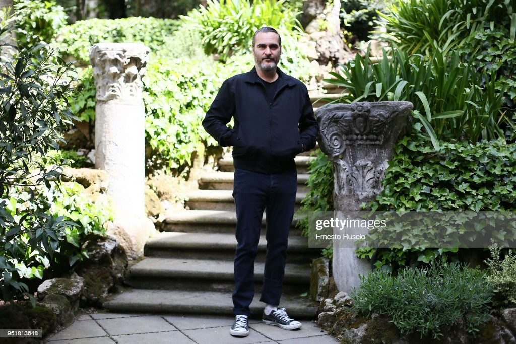 Actor Joaquin Phoenix attends 'A Beautiful Day' photocall at Hotel De Russie on April 27, 2018 in Rome, Italy.