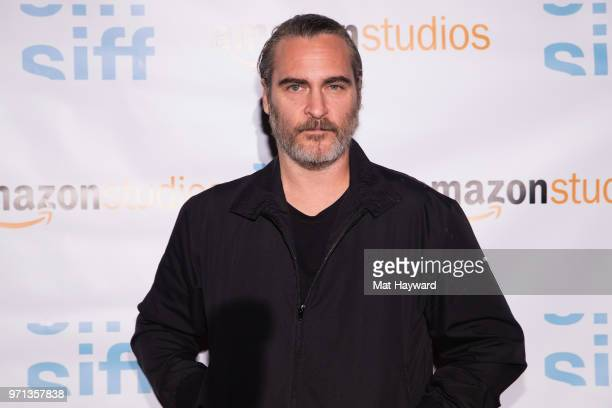 Actor Joaquin Phoenix attends a screening of the film 'Don't Worry He Won't Get Far On Foot' during the Seattle International Film Festival at SIFF...