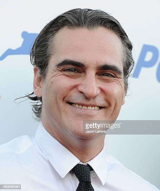 Actor Joaquin Phoenix attends PETA's 35th anniversary party at Hollywood Palladium on September 30 2015 in Los Angeles California