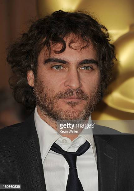 Actor Joaquin Phoenix attends the 85th Academy Awards Nominations Luncheon at The Beverly Hilton Hotel on February 4 2013 in Beverly Hills California