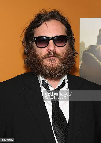 Actor Joaquin Phoenix attends the Cinema Society and Salvatore Ferragamo screening of 'Two Lovers' at the Landmark Sunshine Cinema on February 11...